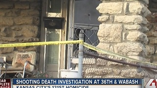 Shooting death investigation at 36th & Wabash - Video