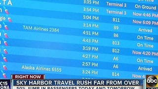 Travel rush continues at Sky Harbor Airport - Video