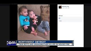 Twin boys and grandmother killed in house fire - Video