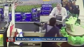 Elderly woman swipes wallet at store checkout line, ruins family's Christmas shopping - Video