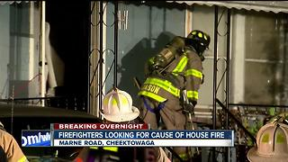 Cheektowaga firefighters looking for a cause of house fire - Video
