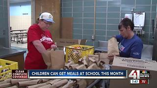 Children can get meals at school this month