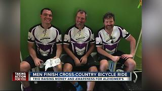 Tampa Bay cyclists finish cross-country ride to raise money, awareness for Alzheimer's - Video