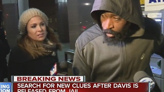 Search for new clues after Davis release - Video