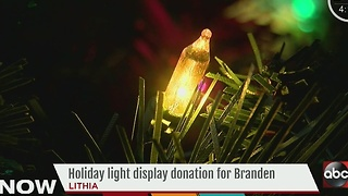 Holiday light display donation for Lithia family - Video