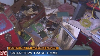 Squatters leave North Las Vegas home - Video