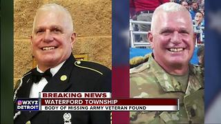 Body of missing Army veteran found