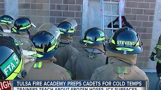 Cold temps creating challenges for firefighters - Video