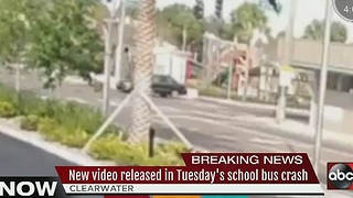 VIDEO: School bus crashes into pole in Clearwater, driver injured - Video