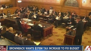 Gov. Brownback unveils Kansas State Budget - Video