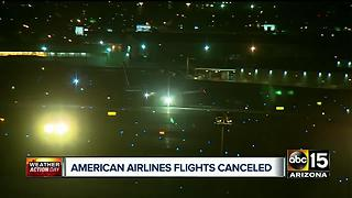 American Airlines cancels flights due to Phoenix heat - Video