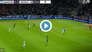 Leo Messi Goal - Argentina vs Uruguay - Video