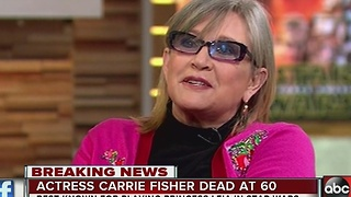 Carrie Fisher, 'Star Wars' Princess Leia, dead at age 60 - Video