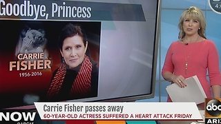 Carrie Fisher passes away after heart attack - Video