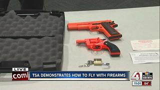 TSA demonstrates how to fly with firearms - Video