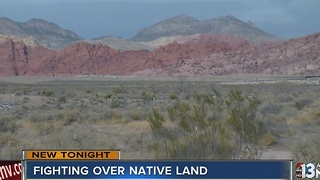 Right over land near Red Rock Canyon National Conservation Area - Video