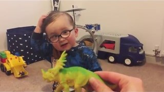 Adorable Two-Year-Old Boy Knows Every Dinosaur Name - Video