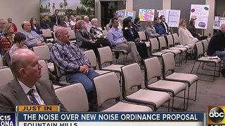 Fountain Hills residents debate over noise ordinance - Video