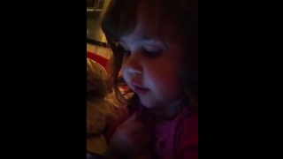 Toddler sings 'That's Falling in Love' from Talking Angela - Video