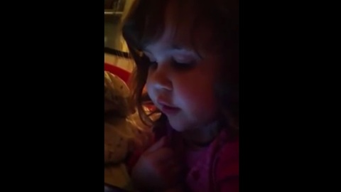 Toddler sings 'That's Falling in Love' from Talking Angela