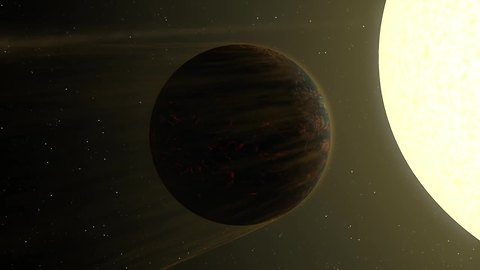 "Artist's impression of 55 Cancri e ""two-faced"" planet"