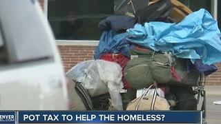 Marijuana tax money could be diverted to help Denver's homeless population - Video