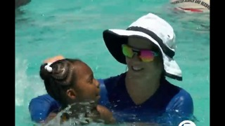 Swimmers join World's Largest Swimming Lesson