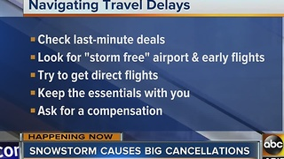 How to prepare for cancellations and delays when traveling for holidays - Video
