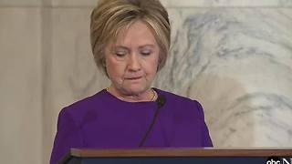 Hillary Clinton addresses fake news today at Harry Reid event - Video