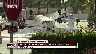 Small plane crash in Cape Coral - Video