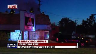 Crews battling fire at Coney Island on Grand River - Video