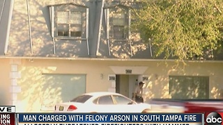 Police: Man set fire to S Tampa apartment, threatened firefighters with hammer - Video