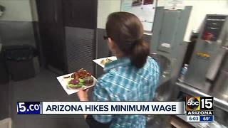 Arizona minimum wage goes up 50 cents - Video