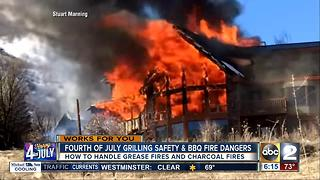July 4 grilling safety and BBQ fire dangers - Video