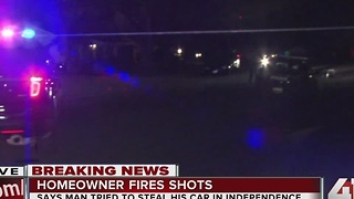 Independence homeowner shoots robbery suspect - Video