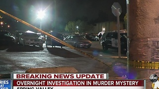 Overnight investigation in murder mystery - Video