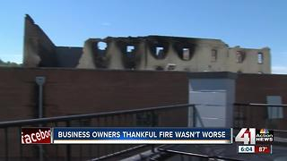 Nearby business owners grateful they escaped fire damage - Video