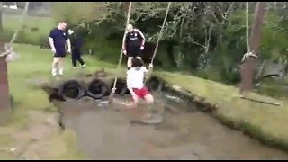 Irish Bachelor Party Struggles Heroically on Obstacle Course the Day After Night Before - Video
