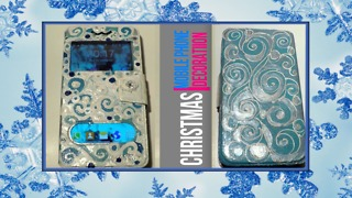 DIY Mobile phone Christmas decoration