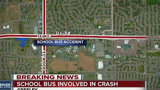 Greeley school bus involved in crash - Video