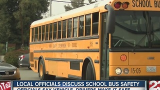 Local officials discuss school bus safety - Video