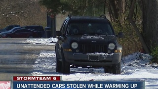 Unattended cars stolen while warming up - Video