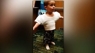 You'll be surprised when you find out how he got those impressive muscles! - Video
