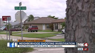 Police investigate shots fired in Cape neighborhood - Video