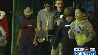 Developmentally disabled kids write, stage play - Video