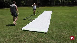Do-It-Yourself slip and slide with Elissa the Mom | Rare Life - Video