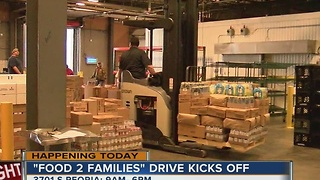 KJRH kicks off Food 2 Families can food drive today!