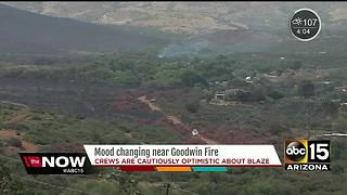 Crews are cautiously optimistic about Goodwin Fire progress - Video