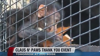 Claus 'N'Paws at Zoo Boise is Saturday - Video