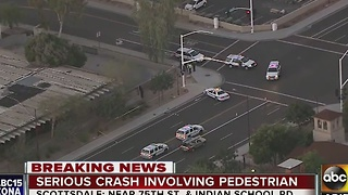 Pedestrian hit by vehicle in Scottsdale - Video